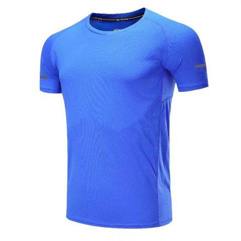 Affordable Quick Dry Men Sleeve Round Collar Large Code Loose Fitness Sport T-Shirt