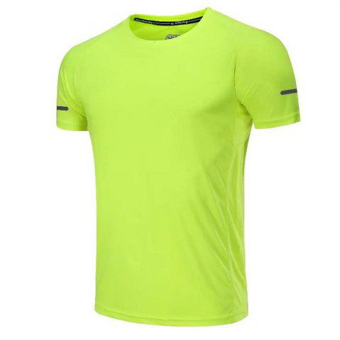 New Quick Dry Men Sleeve Round Collar Large Code Loose Fitness Sport T-Shirt