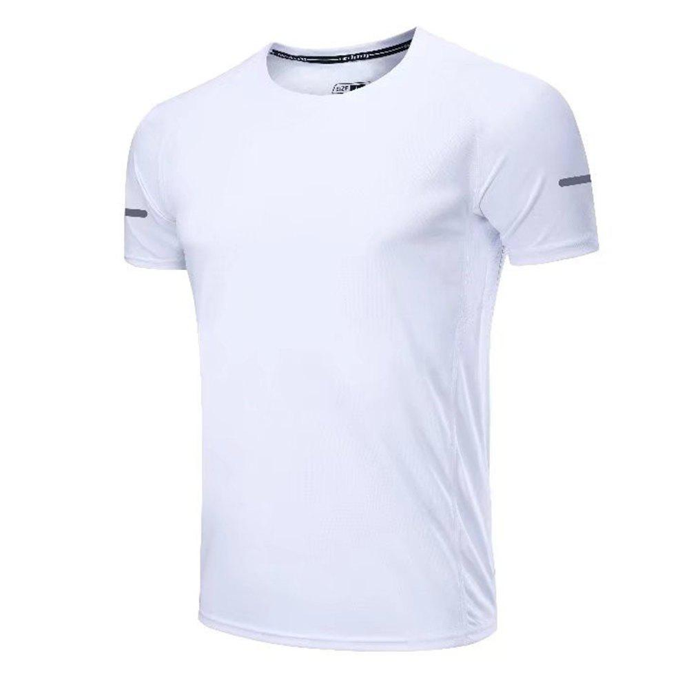 Buy Quick Dry Men Sleeve Round Collar Large Code Loose Fitness Sport T-Shirt