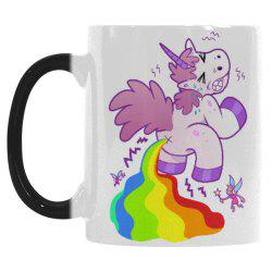 11OZ Cartoon Unicorn Poop Morphing Mug Travel Heat Color Change Coffee Cup with Quotes Unique Fun -