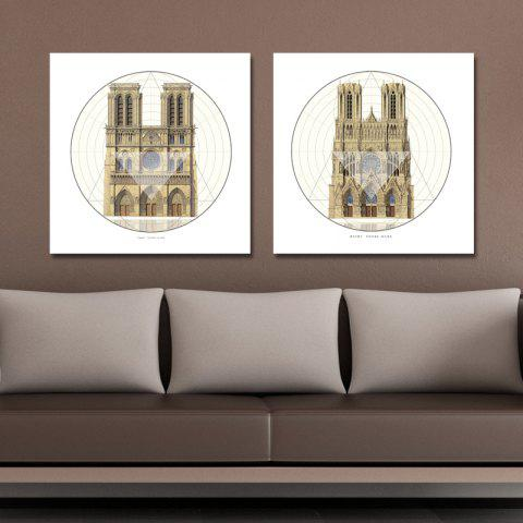 Outfit 41XDZS - 9-10 2PCS European Architecture Castle Print Art