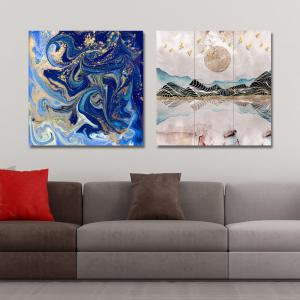 41XDZS - 30-58 2PCS Abstract Scenery of Fashion Print Art -