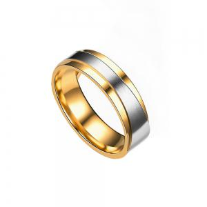 Men's Steel Lovers Gold-Plated Rings 01171 Personality Gifts Jewelry -