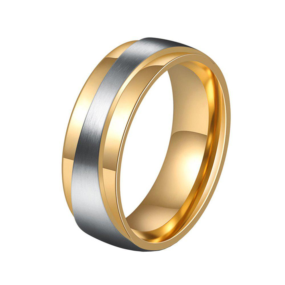 Trendy Men's Steel Lovers Gold-Plated Rings 01171 Personality Gifts Jewelry