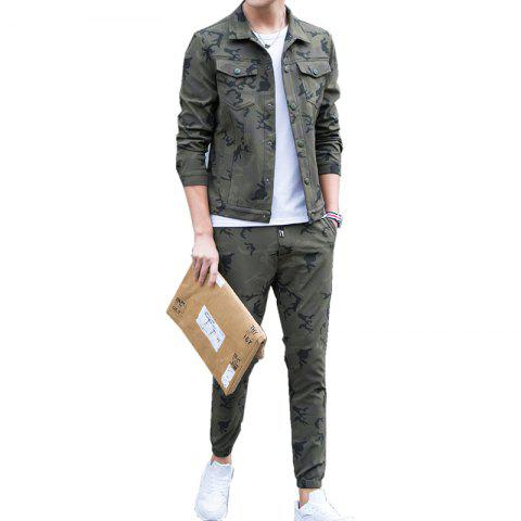 Fancy Men's Outdoor Sports Camouflage Suit for Casual Wear