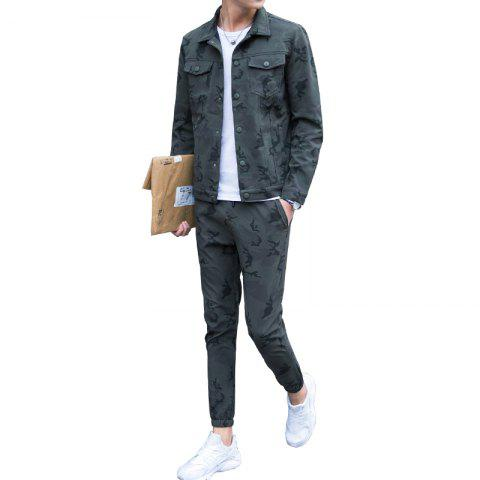 Discount Men's Outdoor Sports Camouflage Suit for Casual Wear