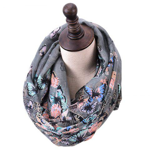 Sale Spring and Autumn Women's Fashion Butterfly Print Infinity Scarf