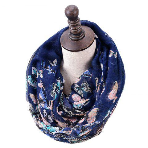 Latest Spring and Autumn Women's Fashion Butterfly Print Infinity Scarf
