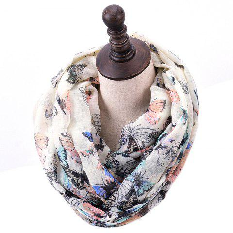 Fancy Spring and Autumn Women's Fashion Butterfly Print Infinity Scarf