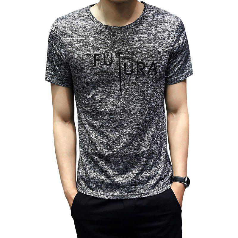 Discount Men Short Sleeve Polyester Workout T-shirt