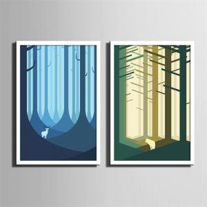 Special Design Framed Paintings Jungle Print 2PCS -