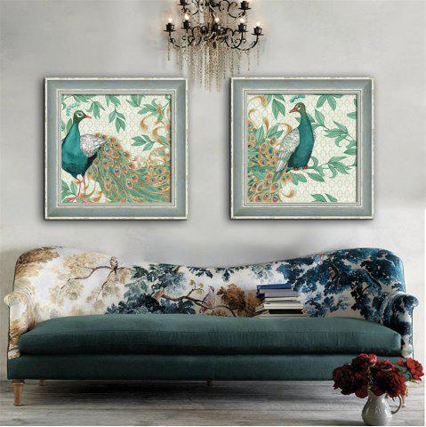 Outfit Special Design Frame Paintings Peacock Print 2PCS