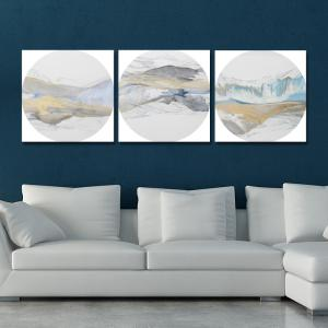 41XDZS - 157-158-161 3PCS Chinese Abstract Scenery Print Art -