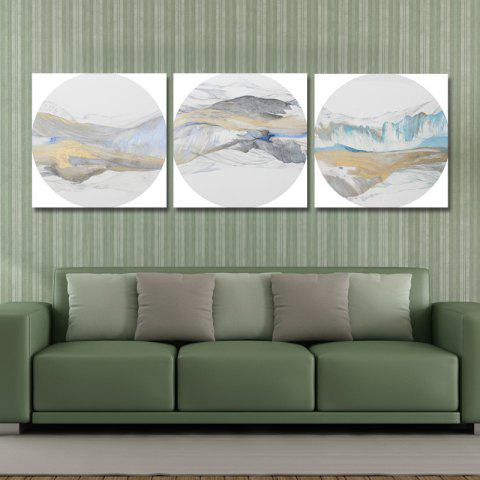 Best 41XDZS - 157-158-161 3PCS Chinese Abstract Scenery Print Art