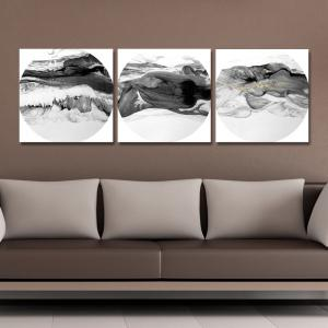 41XDZS - 167-168-171 3PCS Chinese Abstract Scenery Print Art -