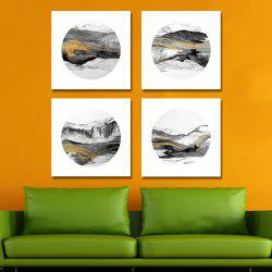 41XDZS - 174-175-176-177 4PCS Chinese Abstract Scenery Print Art -