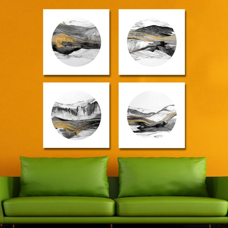 New 41XDZS - 174-175-176-177 4PCS Chinese Abstract Scenery Print Art