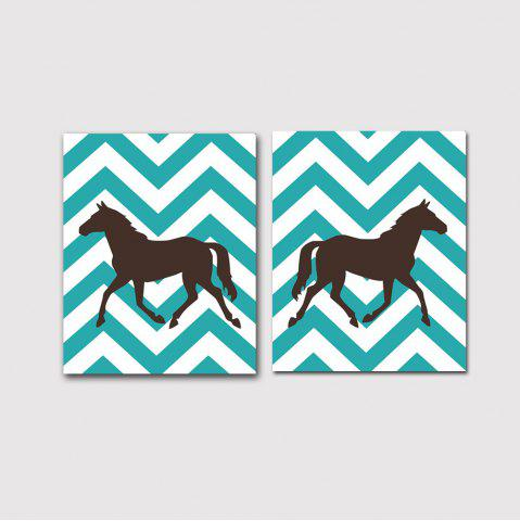 Outfit Modern Nordic Living Room Bedroom Background Pony Decorative Prints 2PCS