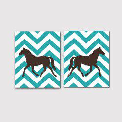 Modern Nordic Living Room Bedroom Background Pony Decorative Prints 2PCS -