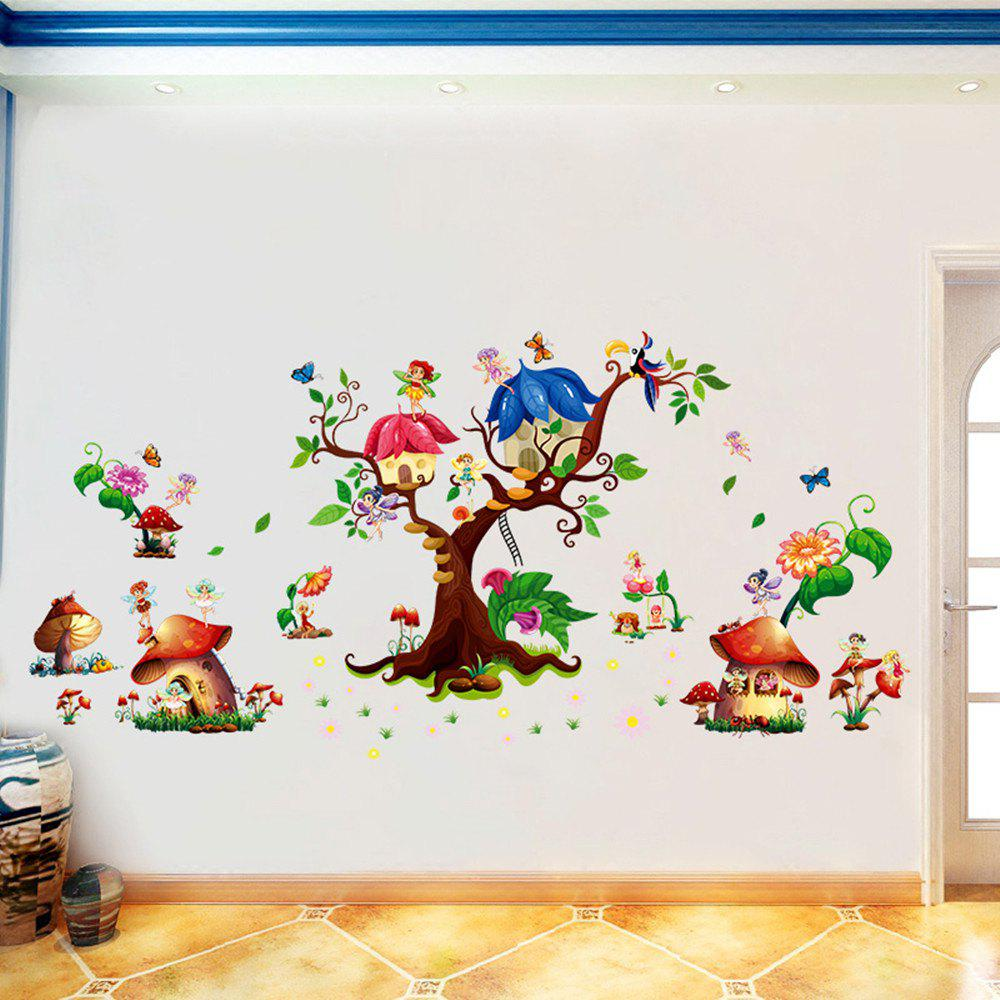 Cheap 3D Cartoon Wall Stickers Creative New Flower Decoration
