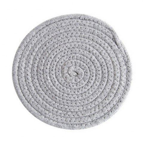 Shop Round Weave Placemat Soft Cotton Thread Thicker Cloth Dining Table Mat