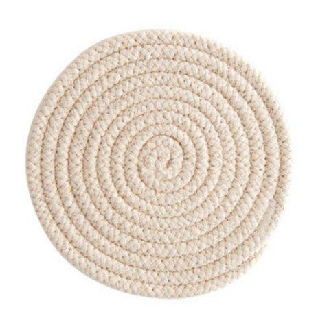 Hot Round Weave Placemat Soft Cotton Thread Thicker Cloth Dining Table Mat