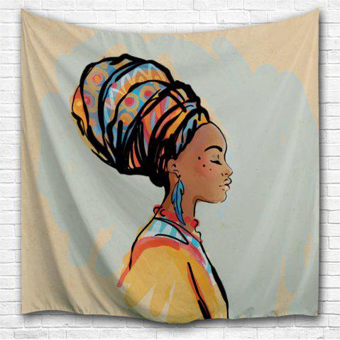 Chic Gouache Woman 3D Printing Home Wall Hanging Tapestry for Decoration