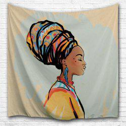 Gouache Woman 3D Printing Home Wall Hanging Tapestry for Decoration -