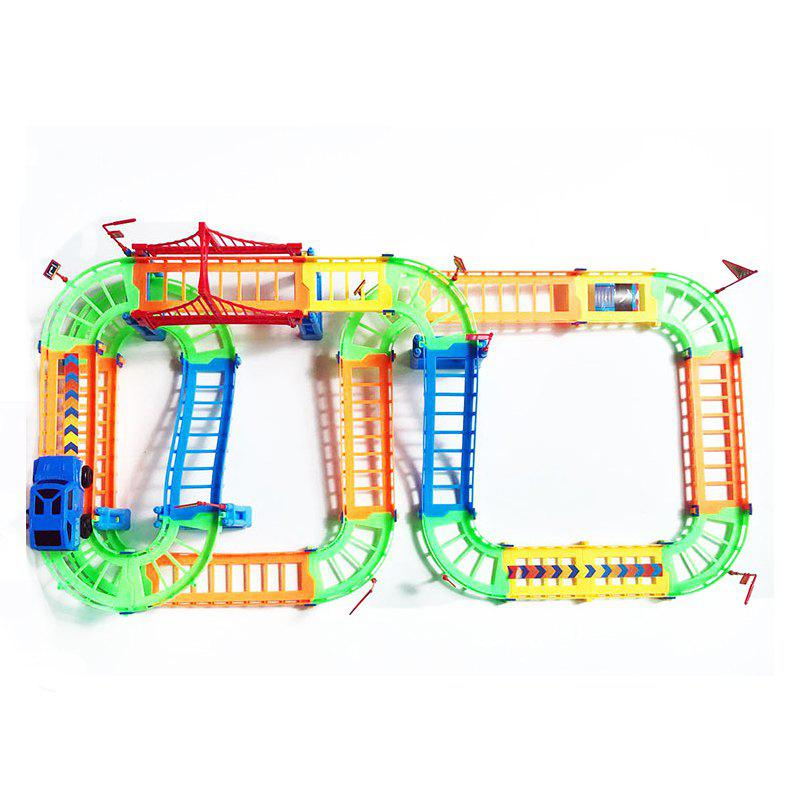 Discount Creative Kid Rail Car Toy 90PCS