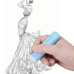 Cartoon Electric Stationery Erasers with 20 Refills Kit Sketch Modification -
