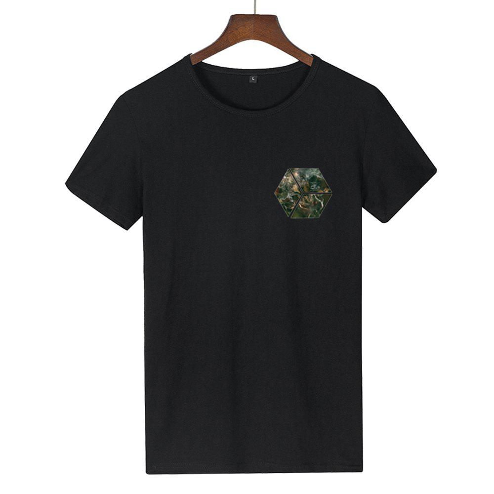 Trendy Teenagers Simple Small Print Sports T-Shirts