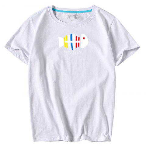 Мужская молодежь All-Match Simple Sports Leisure T-Shirt
