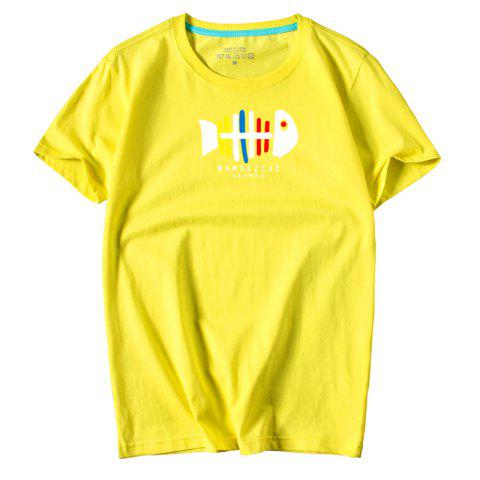 New Men's Youth All-Match Simple Sports Leisure T-Shirt