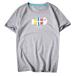 Мужская молодежь All-Match Simple Sports Leisure T-Shirt -