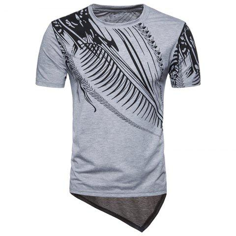 Trendy 2018 New Men's Large Size Hip-hop Style Dragon Print Short Sleeve T-shirt