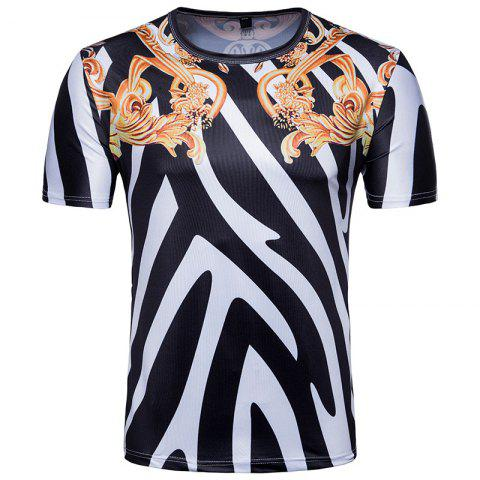 Latest Men's Summer Retro Striped Printed T-Shirt