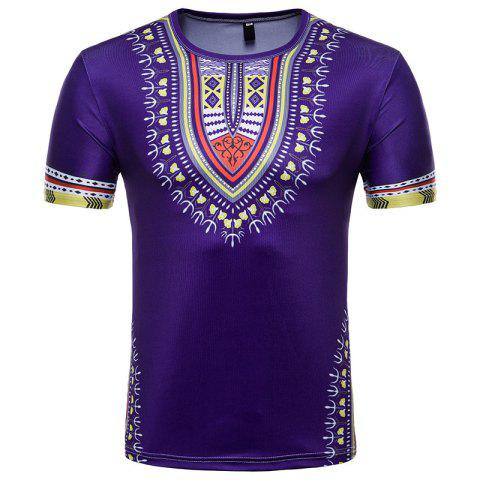Best Men's Summer Indian Totem Print Round Neck T-Shirt