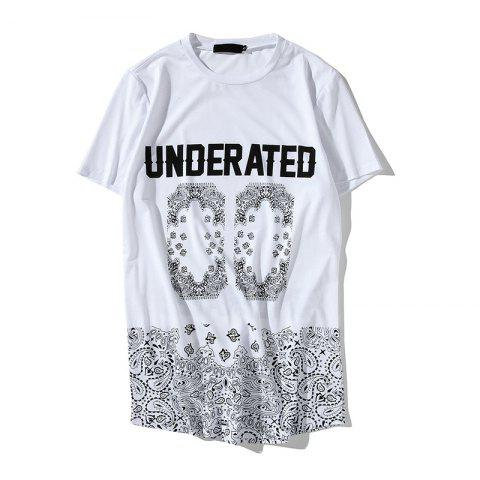 Outfit Summer Hip-Hop Men's Digital Print Long T-Shirt