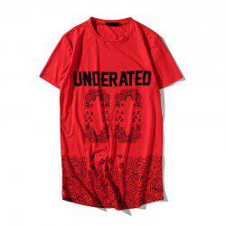 Summer Hip-Hop Men's Digital Print Long T-Shirt -