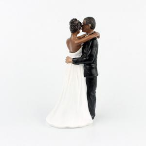 New Style Love Each Other All Life Black Couple Decoration -
