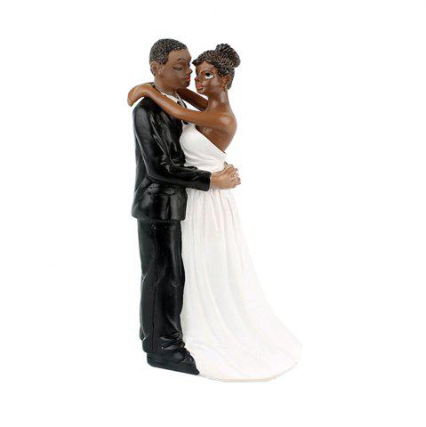 Discount New Style Love Each Other All Life Black Couple Decoration