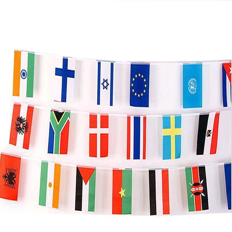 Fancy Football Fans 32pcs Hang String Flag