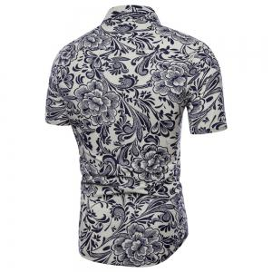Summer New Men's Short-Sleeved Print Size Men'S Shirts -