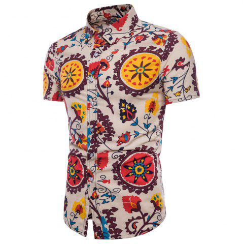 Shop Summer New Men's Short-Sleeved Print Size Men'S Shirts