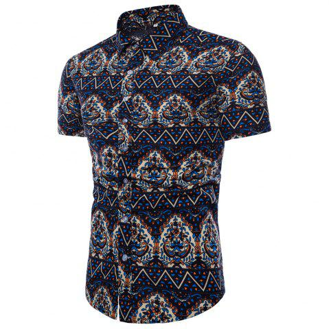 New Summer New Men's Short-Sleeved Print Size Men'S Shirts