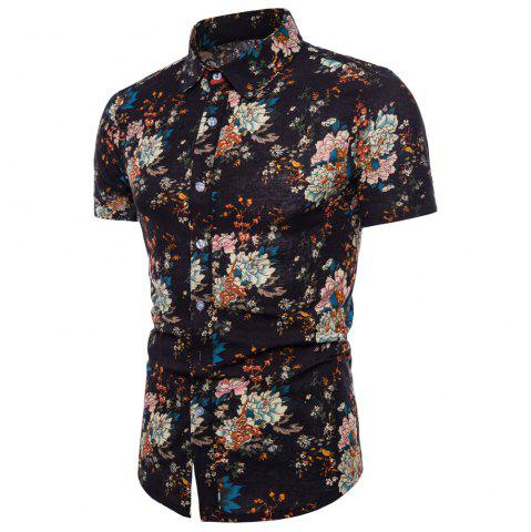 Online Summer New Men's Short-Sleeved Print Size Men'S Shirts