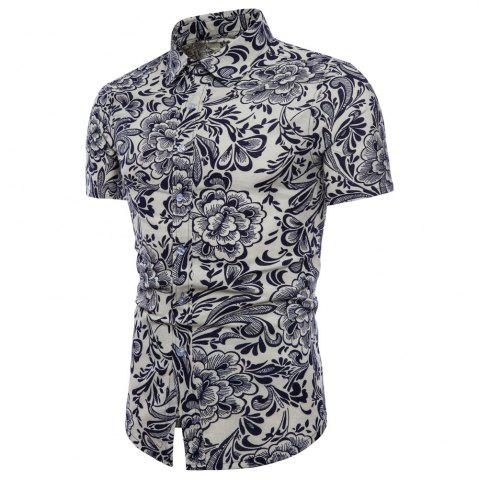 Discount Summer New Men's Short-Sleeved Print Size Men'S Shirts
