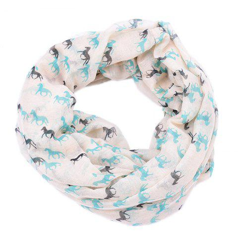 Cheap Spring and Autumn Women's Fashion Horse Print Viscose Scarf