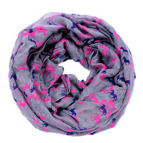 New Spring and Autumn Women's Fashion Horse Print Viscose Scarf