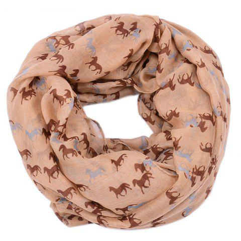 Store Spring and Autumn Women's Fashion Horse Print Viscose Scarf